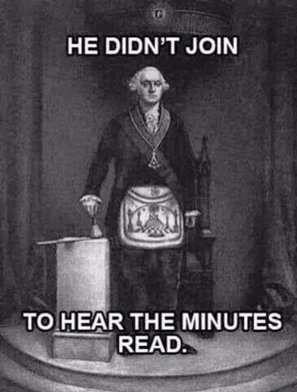 GW Masonic Minutes