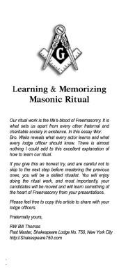 Memorizing Ritual