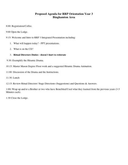 RRP Agenda - Binghamton