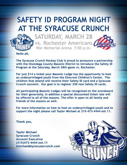 Syracuse Crunch night March 28 2015