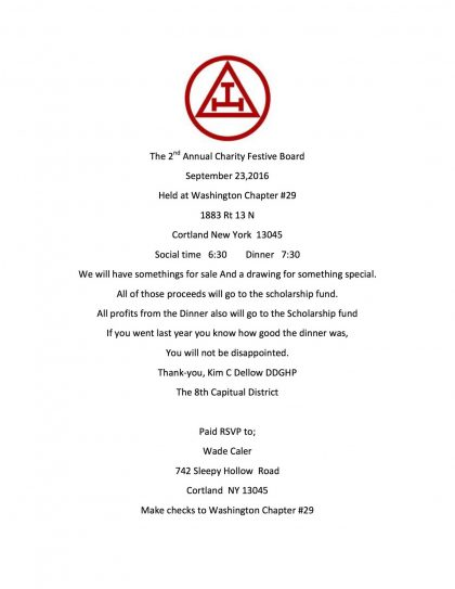 The 2nd Annual Charity Festive Board